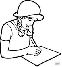coloring pages paper coloring pages a student writing on