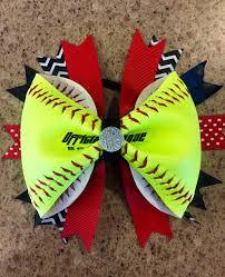 softball ribbon softball ribbon bow made out real softballs on storenvy