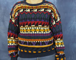 multicolor sweater etsy