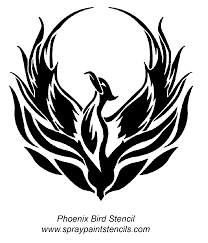 flying phoenix outline tattoo design photo 2 photo pictures