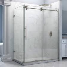 Shower Door Kits 6 6ft Rectangle Chrome Polished Bypass Frameless Sliding Glass