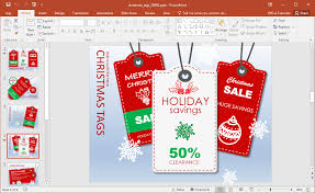 animated christmas tags powerpoint template