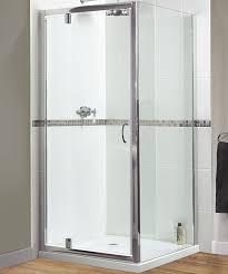 Uk Shower Doors Shine Pivot Shower Door 760mm Polished Silver