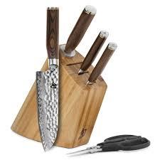 Kitchen Knives Block by Shun Premier Slim Knife Block Set With Bonus Herb Shears 5 Piece