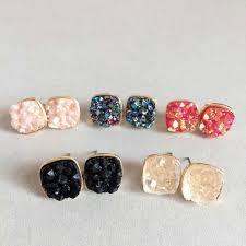 stud earrings for women 2017 luxury brand stud earrings women geometric square rhinestone
