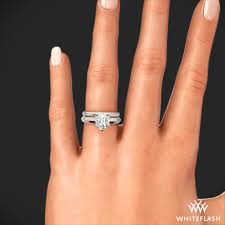 wedding set classic styl knife edge solitaire wedding set 4673