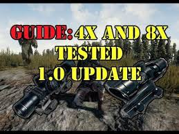 pubg 4x guide guide where to aim with the 4x and 8x scope pubg 1 0 patch youtube