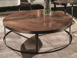 round wooden coffee table shahan by porro design christophe pillet