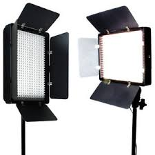 led studio lighting kit 2 x 500 led light panel kit photography video studio lighting dimmer