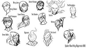 spider man ih head sketches ihcomicshq deviantart