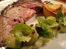 Standing Rib Roast Per Person by Herb Crusted Standing Rib Roast Yorkshire Pudding Brussels