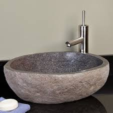 stone vessel bathroom sinks home design ideas and pictures
