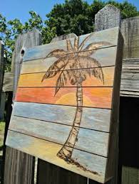 reclaimed wood pallet painted pallet wall decor