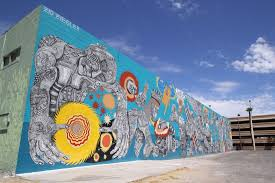 paintthisdesert paint this desert zio ziegler is cross hatch gone wild and voted best mural of 2014 by las vegas weekly the first one was taken down when a property developing decision was