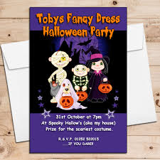 spooky halloween party invitation wording 10 personalised creepy pumpkin halloween party invitations n4