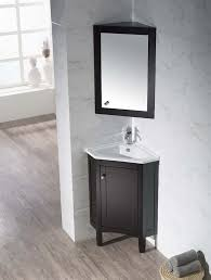 corner bathroom vanity table monte 25 inch corner bathroom vanity with medicine cabinet corner