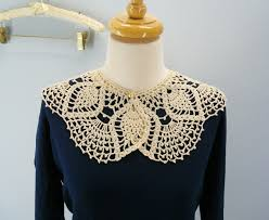 lace accessories free crochet pattern lace collar from the womens accessories