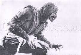12 how to draw scorpion from mortal kombat x