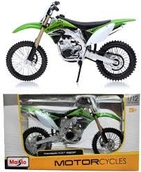 no fear motocross gear kawasaki kxf 450 1 12 diecast motocross mx toy model bike matt