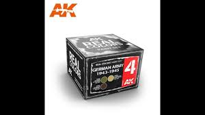 ak interactive real colors of wwii paint range product