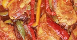 cuisiner les poivrons poulet aux poivrons oignons et tomates recette par cuisine culinaire