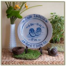 baby birth plates personalized new baby booties birth plate