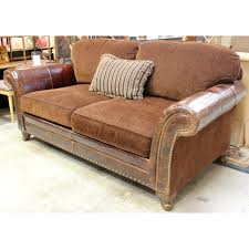 King Hickory Sofa Reviews by King Hickory Leather U0026 Chenille Sofa Upscale Consignment