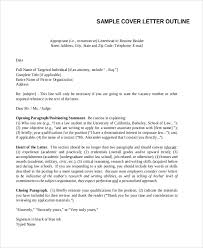 cover letter format examples