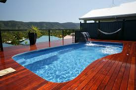 outdoor and patio outdoor pool house designs with blue color on