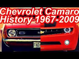 chevrolet camaro history história chevrolet camaro 1967 2009 camarosix