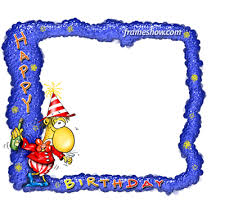 photo frame cards happy birthday e cards and photo frames