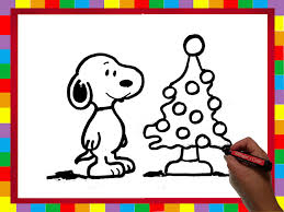 snoopy tree how to draw snoopy and christmas tree high speed velocidad