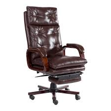 Executive Brown Leather Office Chairs Aosom Homcom High Back Pu Leather Executive Reclining Office