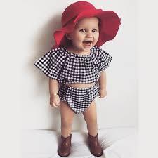 aliexpress com buy 2017 new style summer plaid baby girls