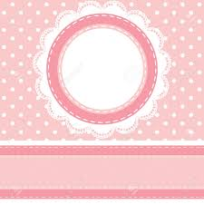 baby shower card with polka dot background with lace napkin