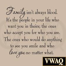 family isn u0027t always blood wall decal saying home decor stickers