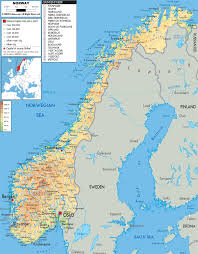 Europe Physical Map by Maps Of Norway Detailed Map Of Norway In English Tourist Map