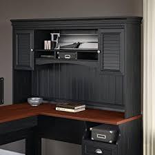 black l shaped desk with hutch amazon com fairview hutch for l shaped desk in antique black