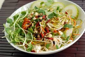 tangled thai salad with a lime peanut dressing cookbook giveaway