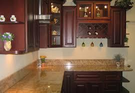Dark Cherry Kitchen Cabinets Kitchen With Cherry Cabinets