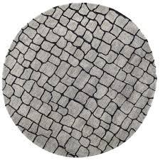 safavieh soho silver grey 6 ft x 6 ft round area rug soh431a 6r