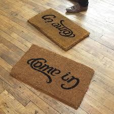 Funny Doormat by Amazon Com Uk Ambigram Door Mat Come In Go Away Home