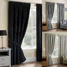 silver curtains ebay