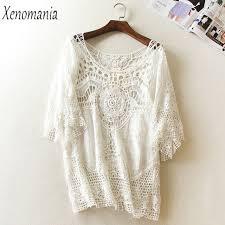 white lace blouses blusa de frio white lace blouse blouses crochet top 2017
