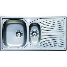 Wickes Luxe  Bowl Kitchen Sink Stainless Steel Wickescouk - Metal kitchen sink