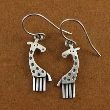 giraffe earrings giraffe earrings stickmancreations