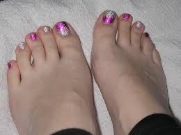 easy toe nail art tutorial foil gel toes youtube