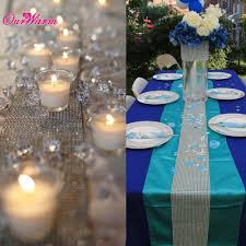 mesh ribbon table decorations ourwarm 5 yards silver mesh ribbon bling sparkle table
