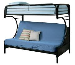 Futon Bunk Bed With Mattress Youth Twin Futon Bunk Bed In Black 2253k