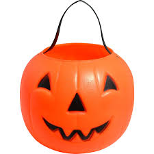 empire blow mold plastic jack o lantern candy pail or bucket